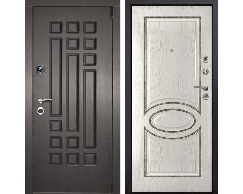 Входная металлическая дверь Милан 70 (Венге патина / Капучино)
