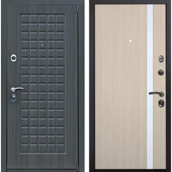 Входная металлическая дверь Верона Z6 (Дуб серый / Капучино)
