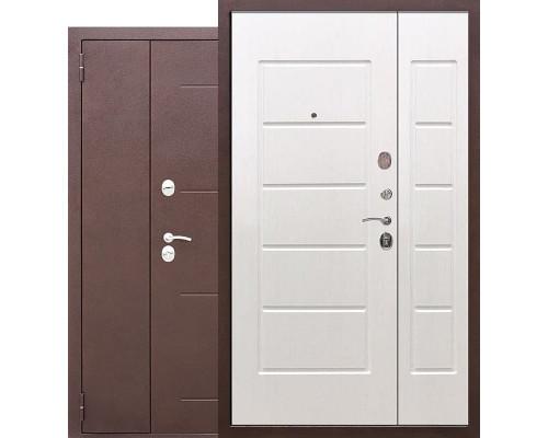 Тамбурная металлическая дверь Гарда 1200-1300х2050 мм (Антик Медь / Ясень белый)