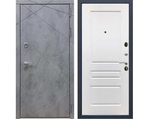 Входная металлическая дверь Армада 13 ФЛ-243 (Бетон тёмный / Белый)