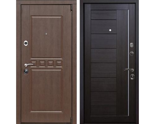 Входная металлическая дверь Сарбона X17 (Орех патина / Венге Мелинга)