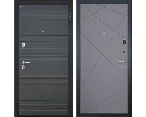 Входная металлическая дверь Интекрон Спарта Лучи-М (Венге / Софт Графит)