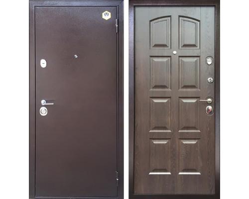 Входная металлическая дверь Бульдорс 24 F-3 (Медный антик / Дуб Шоколад)