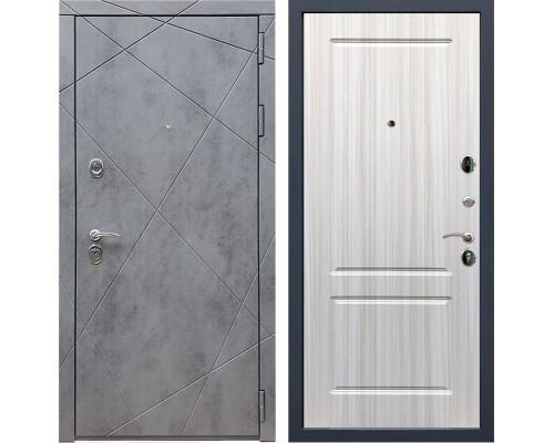 Входная металлическая дверь Армада 13 ФЛ-117 (Бетон тёмный / Сандал белый)