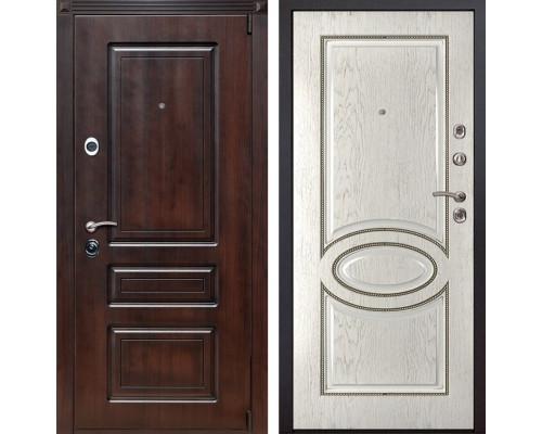 Входная металлическая дверь Неаполь 70 (Вишня тёмная / Капучино)