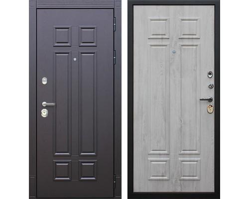 Входная металлическая дверь АСД Виват (Дуб фактурный горький шоколад / Сосна белая)