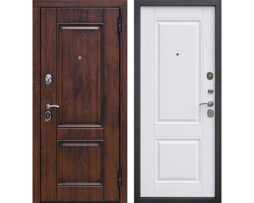 Входная металлическая дверь Вена Винорит (Грецкий орех / Белый матовый)