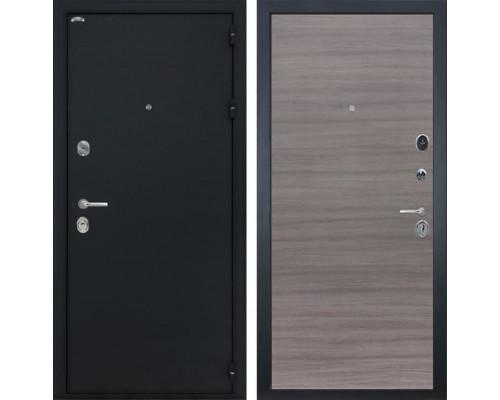 Входная металлическая дверь Интекрон Греция (Чёрный шелк / Дуб Тоскано)