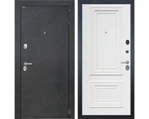 Входная дверь Интекрон Сенатор Лучи Сан Ремо 1 (Венге распил кофе / Сигнальный белый RAL 9003)