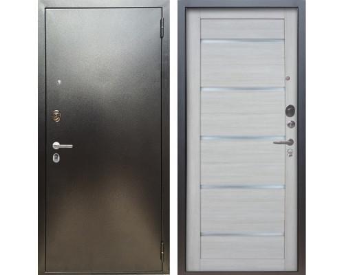 Входная металлическая дверь Аргус Люкс ПРО Александра (Серебро антик / Буксус)