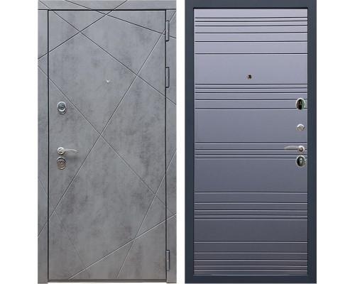 Входная металлическая дверь Армада 13 ФЛ-14 (Бетон тёмный / Графит софт)
