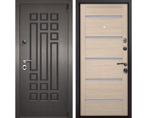 Входная металлическая дверь Милан X7 (Венге патина / Капучино Мелинга)