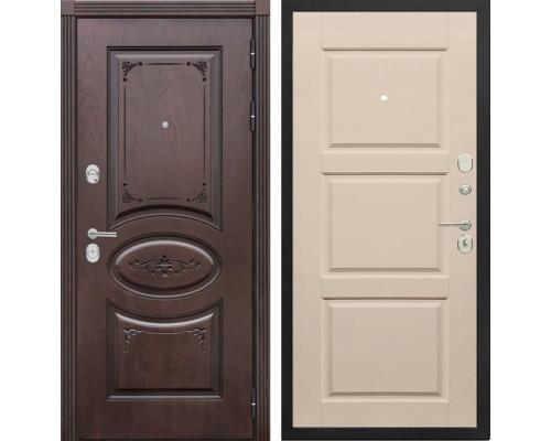 Входная металлическая дверь Сенатор Верона Т-10 (Дуб коньяк / Эмаль ваниль)