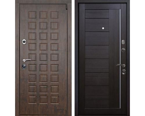 Входная металлическая дверь Верона X17 (Тиковое дерево / Венге Мелинга)