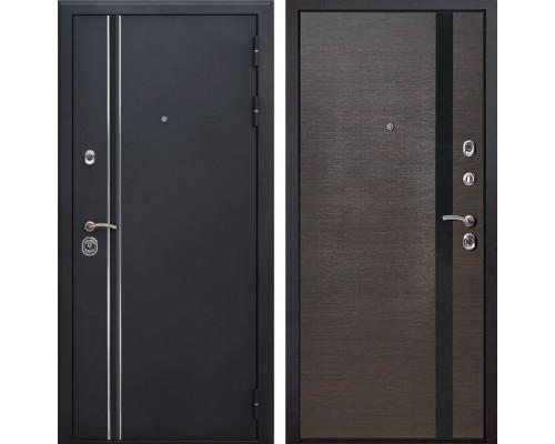 Входная металлическая дверь Квадро Лайн Z6 (Искра черная / Венге)