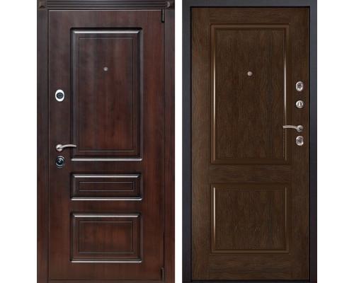 Входная металлическая дверь Неаполь 72 (Вишня тёмная / Каштан)