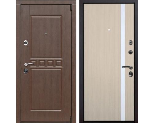 Входная металлическая дверь Сарбона Z6 (Орех патина / Капучино)