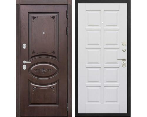 Входная металлическая дверь Сенатор Верона Т-13 (Дуб коньяк / Эмаль белая)