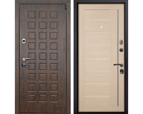 Входная металлическая дверь Верона X17 (Тиковое дерево / Капучино Мелинга)
