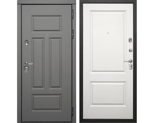 Входная металлическая дверь Дива МД-47 (Ясень графит / Белый матовый)