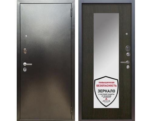 Входная металлическая дверь Аргус Люкс ПРО Милли с Зеркалом (Серебро антик / Венге)
