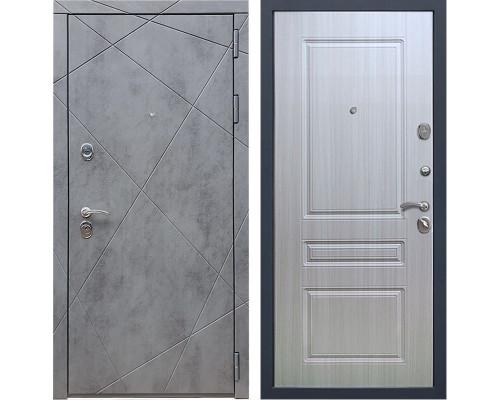 Входная металлическая дверь Армада 13 ФЛ-243 (Бетон тёмный / Сандал белый)
