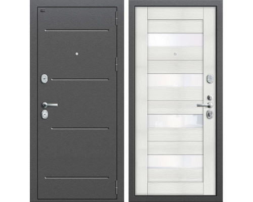Дверь входная металлическая Groff T2-223 (Антик Серебро / Bianco Veralinga)