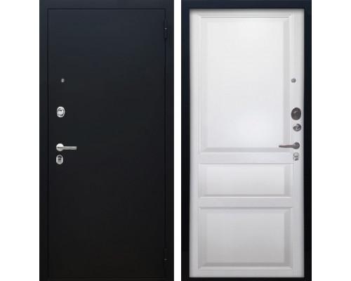 Входная металлическая дверь Аргус Люкс ПРО Каролина (Чёрный шелк / Белый жемчуг)
