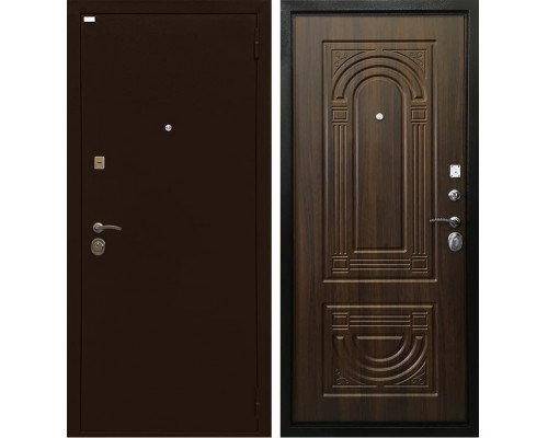 Входная дверь Ратибор Оптима 3К (Медный антик / Орех бренди)