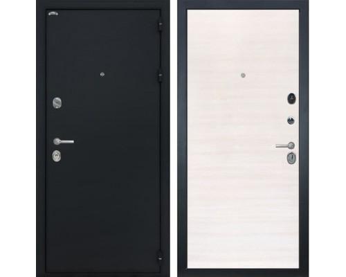 Входная металлическая дверь Интекрон Греция (Чёрный шелк / Дуб Сильвер)