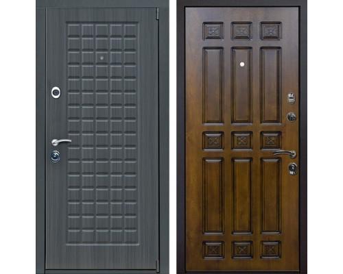 Входная металлическая дверь Мадрид Палермо (Дуб серый / Золотой дуб)
