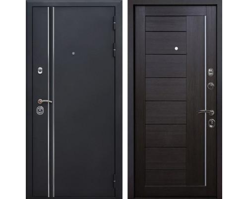 Входная металлическая дверь Квадро Лайн X17 (Искра черная / Венге Мелинга)