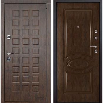 Входная металлическая дверь Верона 70 (Тиковое дерево / Каштан)