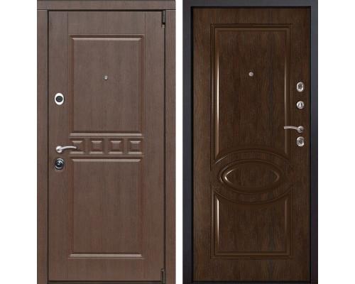 Входная металлическая дверь Сарбона 70 (Орех патина / Каштан)