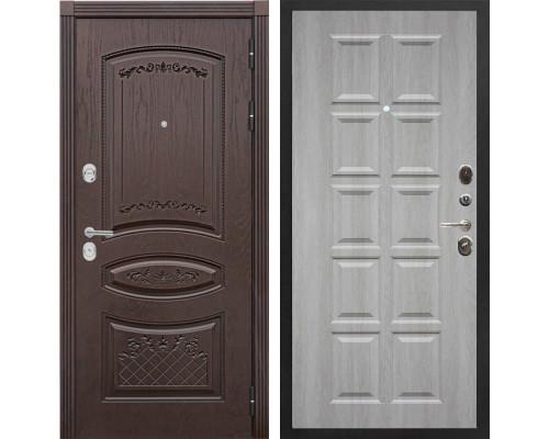 Входная металлическая дверь Сенатор Венеция Т-13 (Дуб коньяк / Крем)
