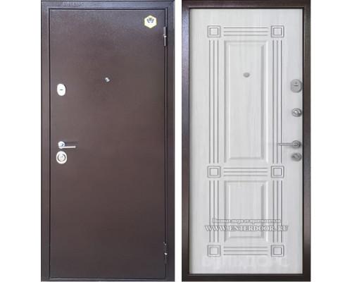 Входная металлическая дверь Бульдорс 14 Б-5 (Медный антик / Шамбори Светлый)