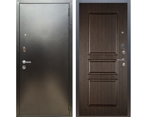 Входная металлическая дверь Аргус Люкс ПРО Сабина (Серебро антик / Венге)