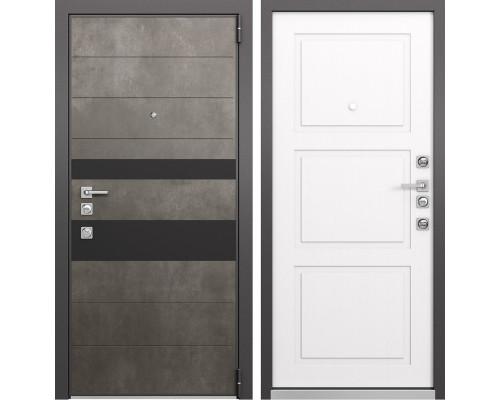 Входная металлическая дверь Mastino Forte (Бетон темный MS-118 / Cинхропоры милк MS-104)