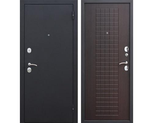Входная металлическая дверь Гарда (Черный муар / Венге)