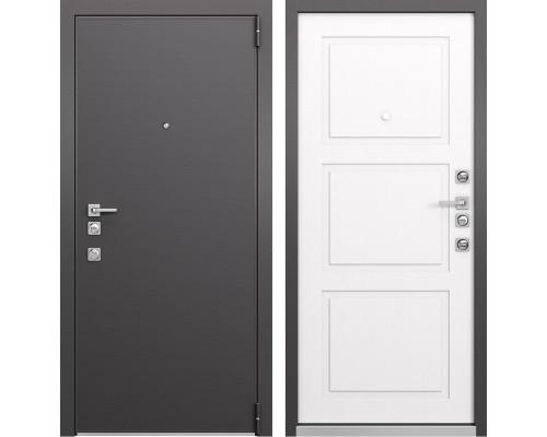 Входная металлическая дверь Mastino Forte (Реалвуд графит MS-100 / Синхропоры милк MS-104)