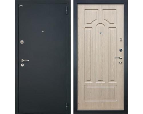 Входная стальная дверь Интекрон Аттика (Шагрень черная / Беленый дуб)