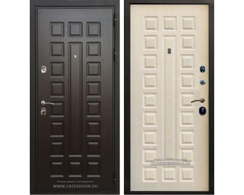 Входная стальная дверь Премиум 3К с цилиндром Cisa (Венге / Дуб беленый)