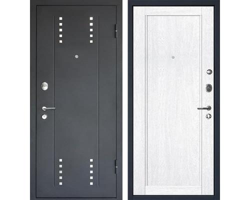 Входная металлическая дверь МеталЮр М26 (Черный бархат / Монблан)