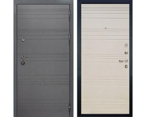 Входная дверь Лекс Сенатор 3К Софт графит (№63 Дуб фактурный кремовый)