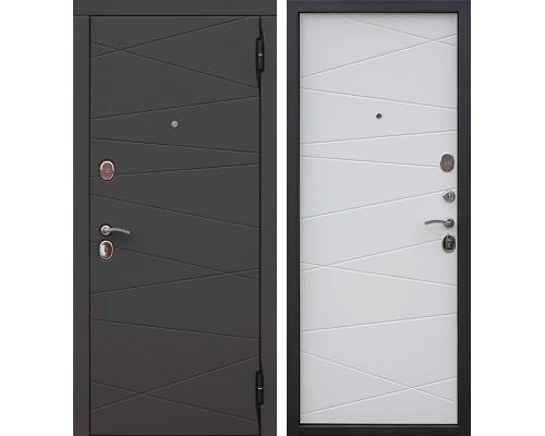 Входная металлическая дверь Верона (Сатин коричневый / Сатин белый)