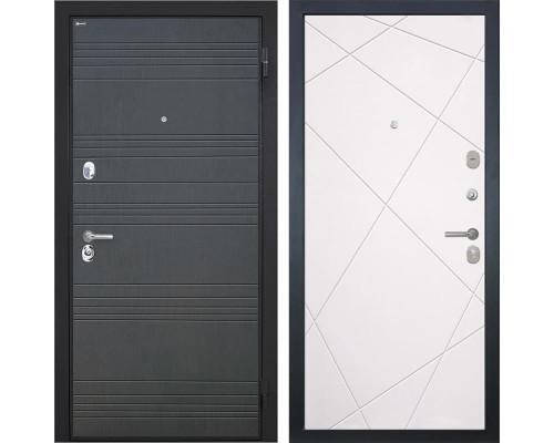 Входная металлическая дверь Интекрон Спарта Лучи-М (Венге / Софт Милк)