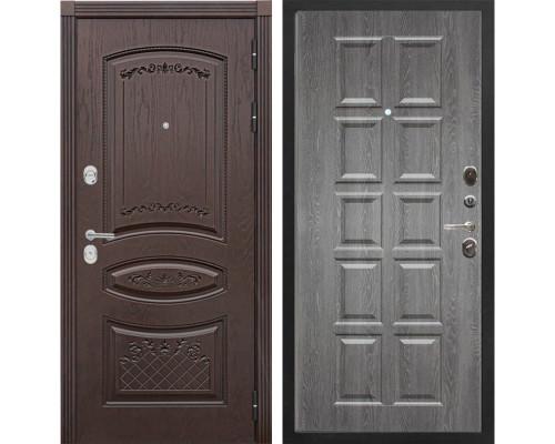 Входная металлическая дверь Сенатор Венеция Т-13 (Дуб коньяк / Графит)