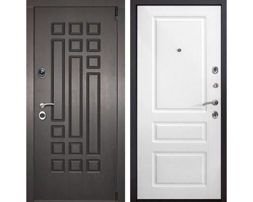 Входная металлическая дверь Милан Неаполь (Венге патина / Белый)