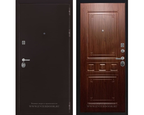 Входная металлическая дверь Соломон Гранд (Антик медь / Орех тиснённый)