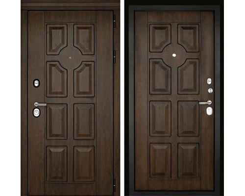 Входная металлическая дверь Дверной Континент Милан 3К (Орех тёмный / Орех тёмный)